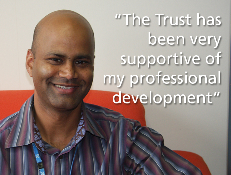 "Sam Gooniah ""The Trust has been very supportive of my professional development"""